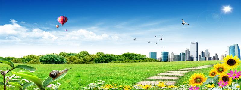 城市风景海报