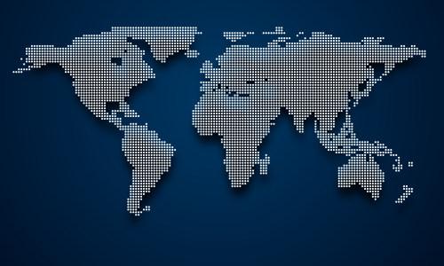 点状世界地图矢量高清背景图片素材下载