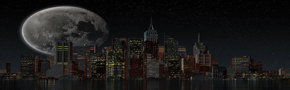 都市梦幻夜景淘宝海报背景