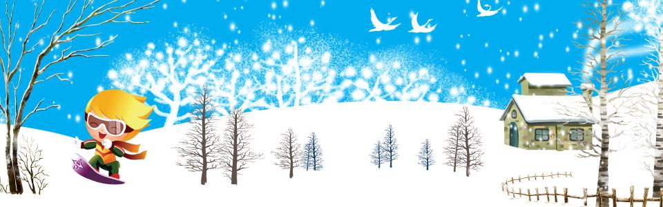 冬天卡通背景