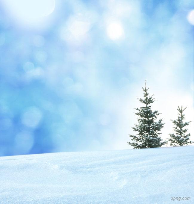 冬季雪景背景高清大图-雪景背景底纹/肌理