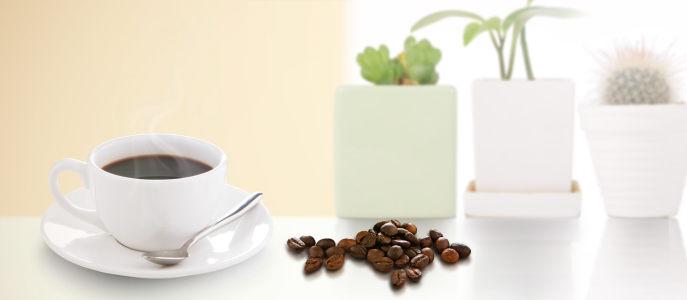 咖啡简约生活背景