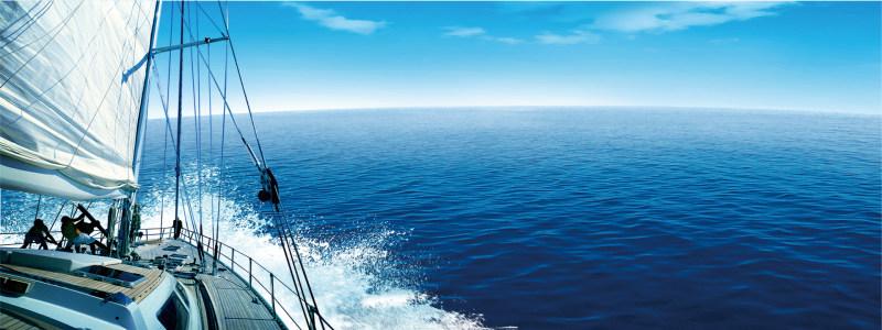 帆船海浪海报高清背景图片素材下载