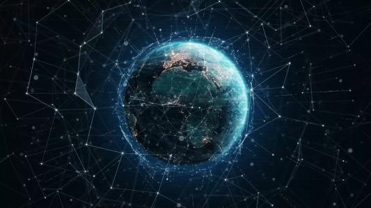 科技感地球背景