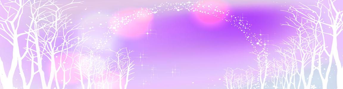 紫色梦幻树林背景banner