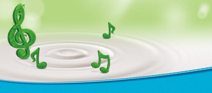 音乐符号牛奶水滴背景banner高清背景图片素材下载