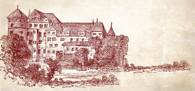 欧州古堡建筑素描高清背景图片素材下载