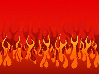 燃烧的火焰卡通背景