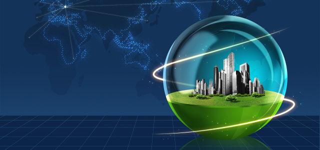 蓝色城市地球科技banner