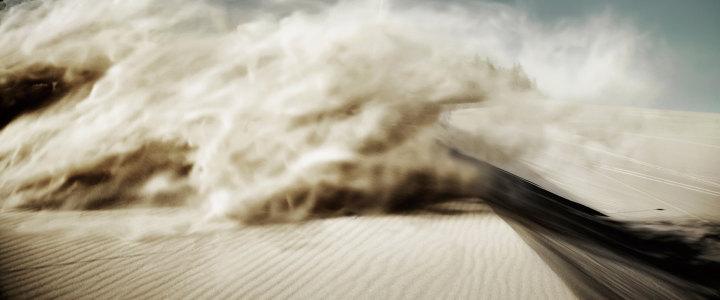 沙漠风暴背景