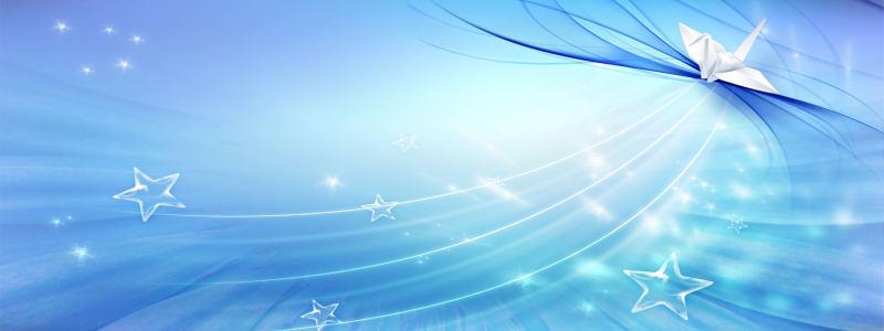 蓝色薄纱渐变背景