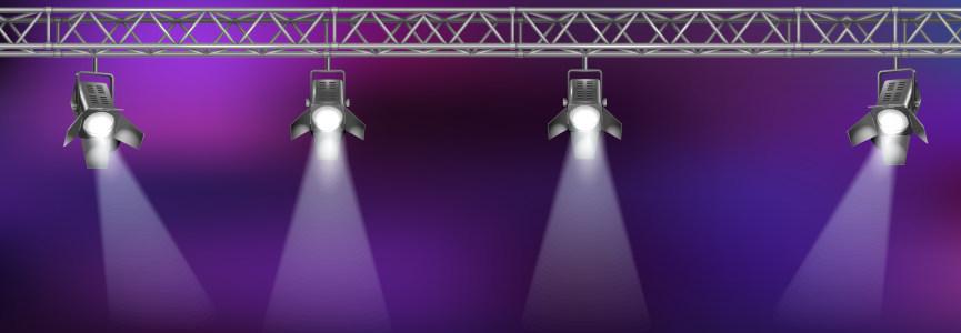 现代简约大气灯光舞台背景背景