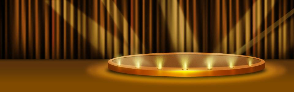 金色舞台背景