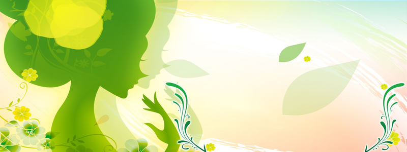 绿色剪影背景