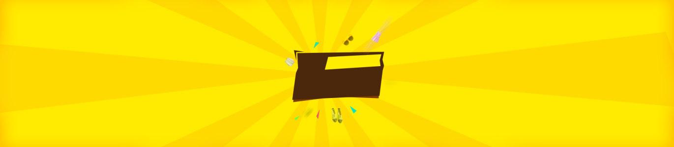 电商放射线线黄色背景banner高清背景图片素材下载