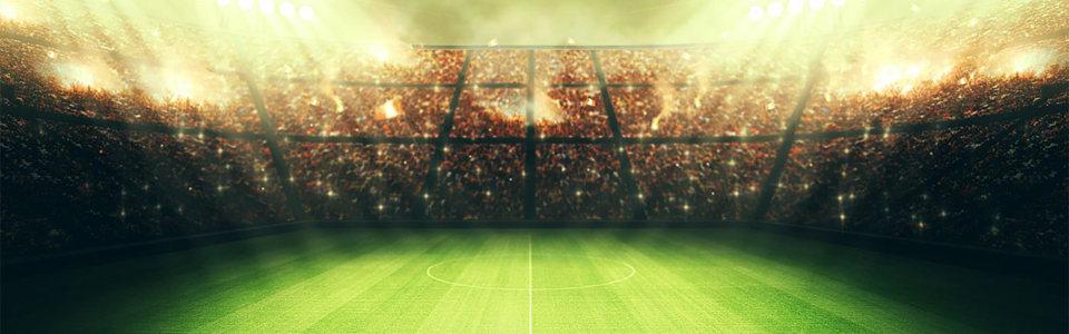 世界杯主题海报绿荫球场背景