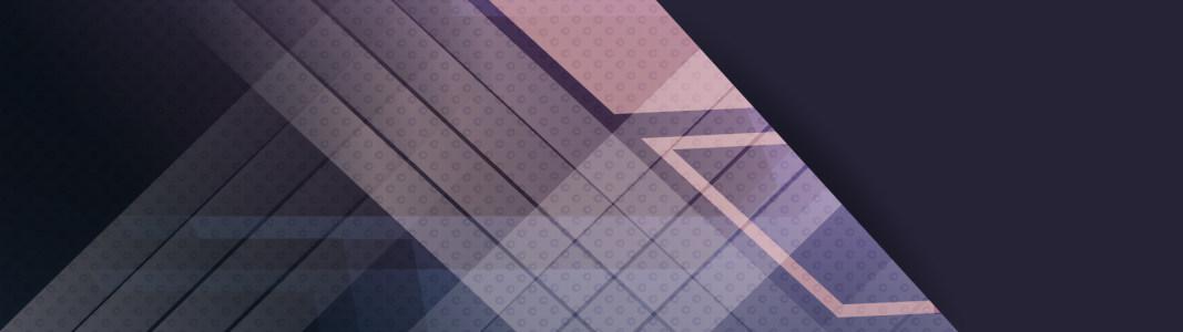 商务几何形banner背景