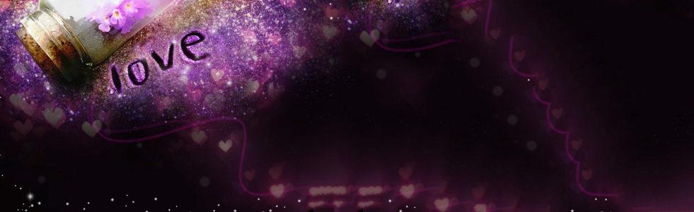 爱情紫色唯美背景banner