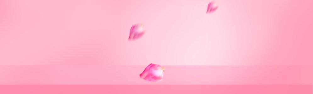 淘宝护肤品花瓣背景banner