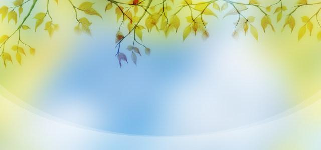 手绘树叶背景