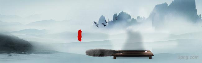 美丽大气山水海报背景背景高清大图-大气背景淡雅/清新/唯美