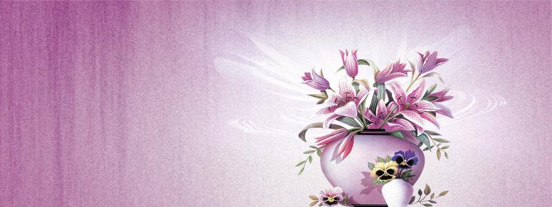 唯美紫色花朵背景
