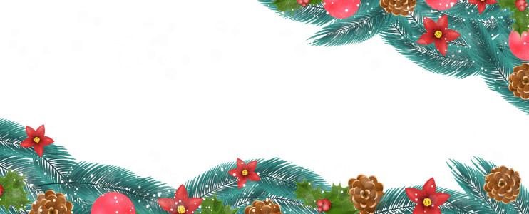 圣诞松枝槲寄生背景