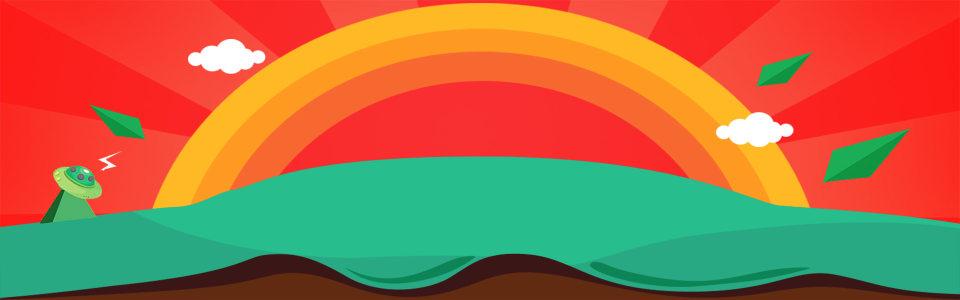 卡通彩虹背景高清背景图片素材下载