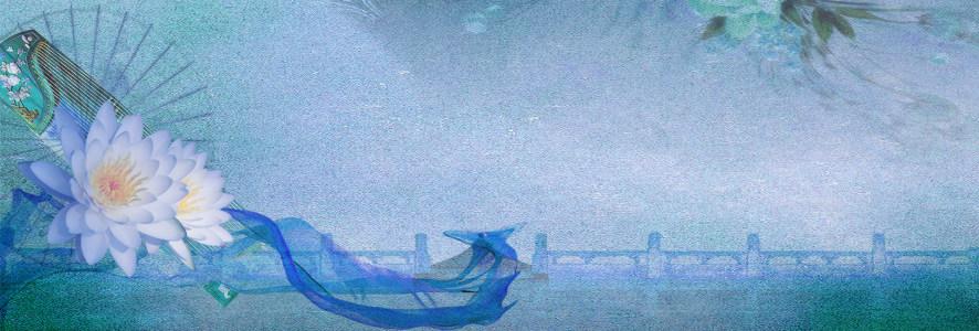 中国风磨砂效果海报banner背景高清背景图片素材下载