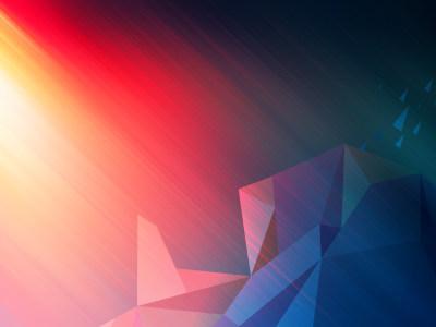 红蓝色渐变几何背景