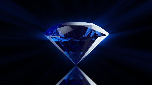 蓝钻石背景