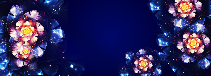 蓝色水晶花朵背景