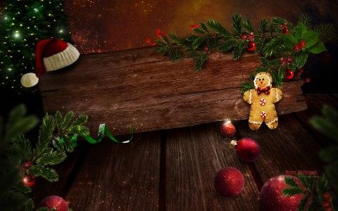 圣诞节木板木纹背景