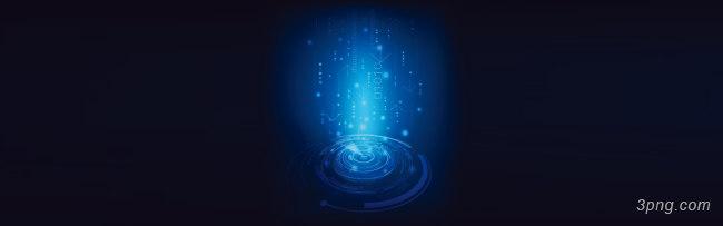 蓝色科技光束漩涡背景banner背景高清大图-光束背景Banner海报