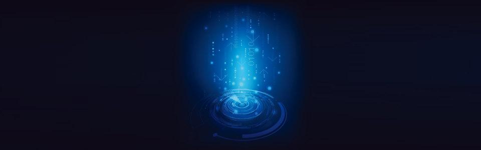 蓝色科技光束漩涡背景banner高清背景图片素材下载