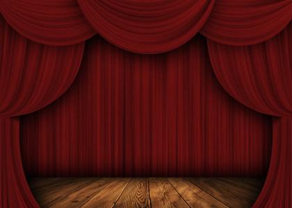幕布舞台背景