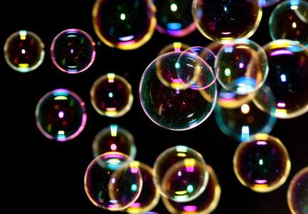 彩色气泡高清背景