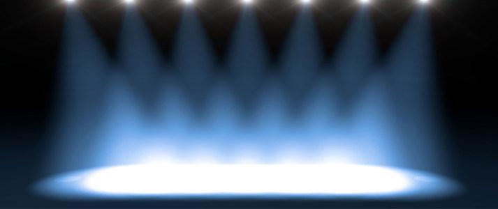 蓝色舞台背景海报背景