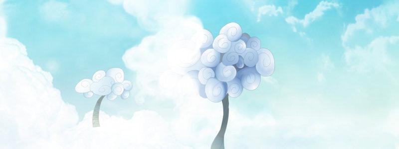 手绘蓝天创意背景大图