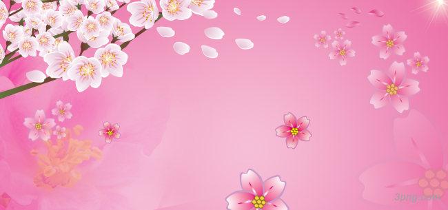 粉红桃花背景背景高清大图-粉红背景鲜花