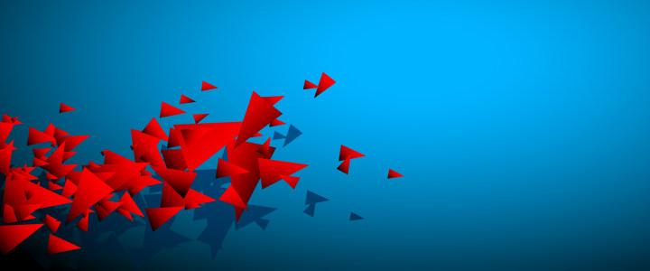 蓝色三角形创意背景