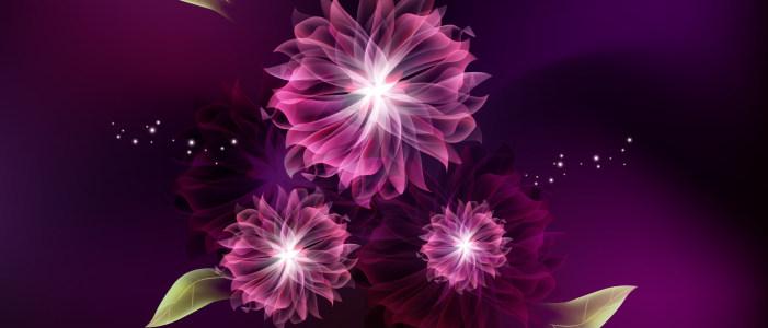 缤纷炫彩紫色浪漫气息背景图