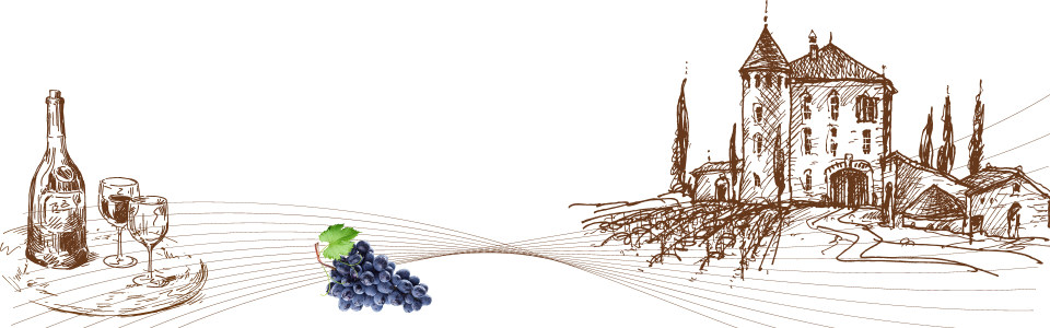 手绘葡萄酒庄园海报背景高清背景图片素材下载