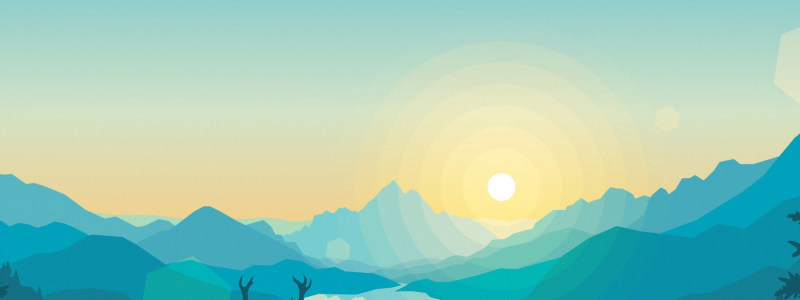 卡通创意夕阳背景