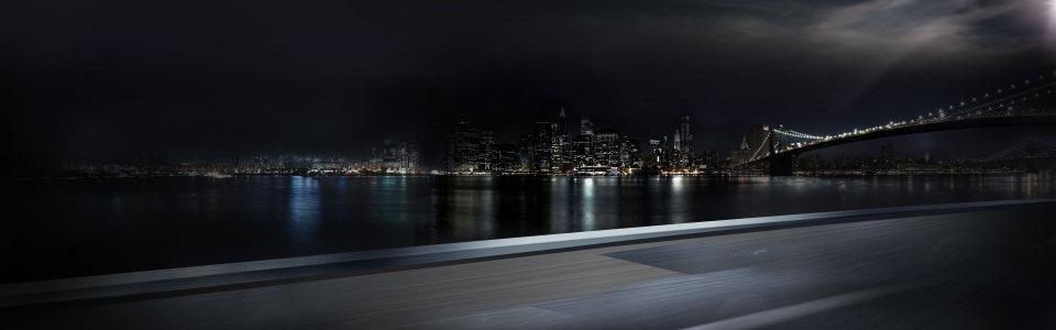 城市夜空景色图