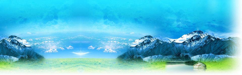雪山山脉清新背景banner高清背景图片素材下载