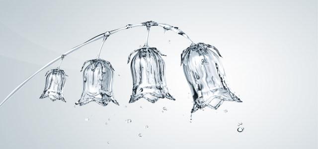 创意水晶灯笼花背景