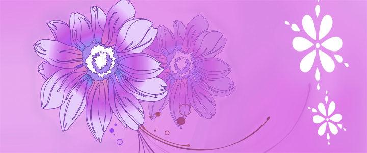 紫色花纹背景