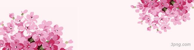 花草粉色花朵背景banner背景高清大图-花草背景Banner海报