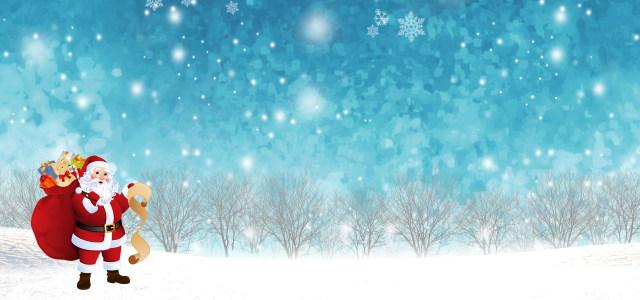 蓝色圣诞节背景高清背景图片素材下载